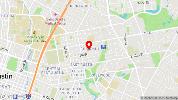 Google Map of 2514 E 17th St, Austin, TX 78702