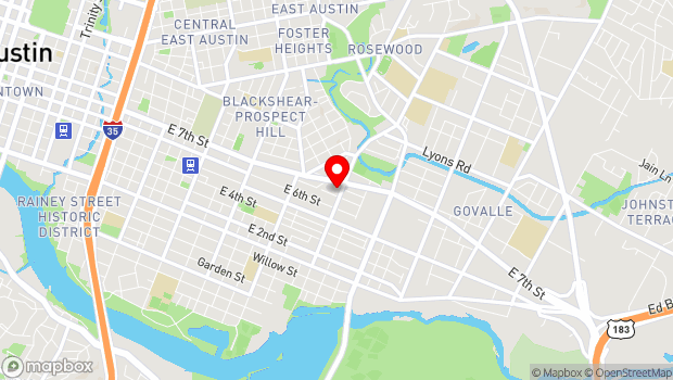Google Map of Austin, TX 78702