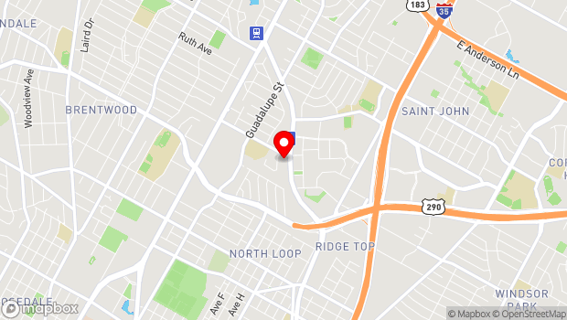Google Map of 6100 Airport Blvd., Austin, TX 78752