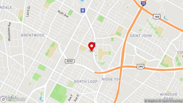 Google Map of 6100 Airport Blvd, Austin, TX 78752