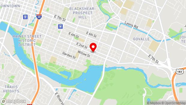 Google Map of 2400 E Cesar Chavez St #302, Austin, TX 78702, Austin, TX 78702