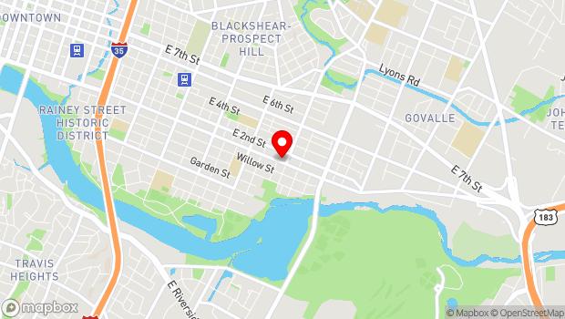 Google Map of 2400 East Cesar Chavez Suite 206, Austin, TX 78702