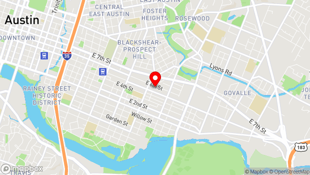 Google Map of 2235 E. 6th St. #102, Austin, TX 78702