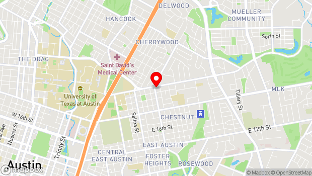 Google Map of 2307 Manor Road, Austin, TX 78722