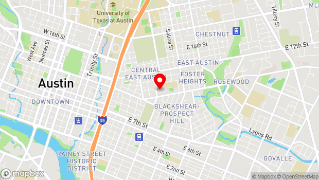 Google Map of 1165 Angelina Street, Austin, TX 78702