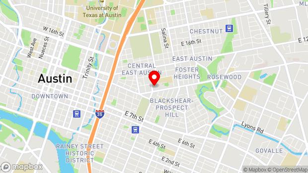 Google Map of 1161 Angelina Austin, Austin, TX 78702