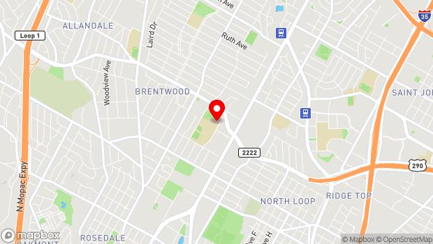 Google Map of 5600 Sunshine Dr., Austin, TX 78756