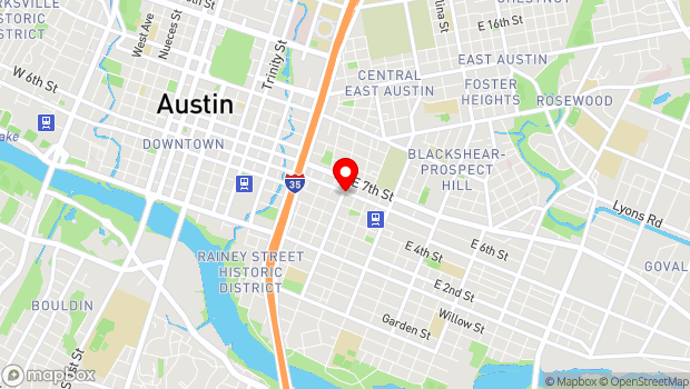 Google Map of 1201 E 6th St, Austin, TX 78702, Austin, TX 78702