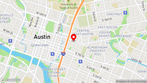 Google Map of 1009 East 11th Street, Austin, TX 78702