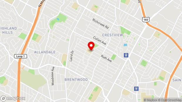 Google Map of 6700 Arroyo Seco, Austin, TX 78757