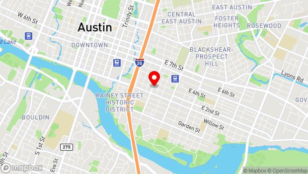Google Map of 1200 E 2nd Street, Austin, TX 78702