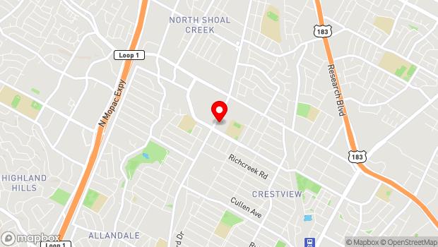 Google Map of 7601 Burnet Road, Austin, TX 78757