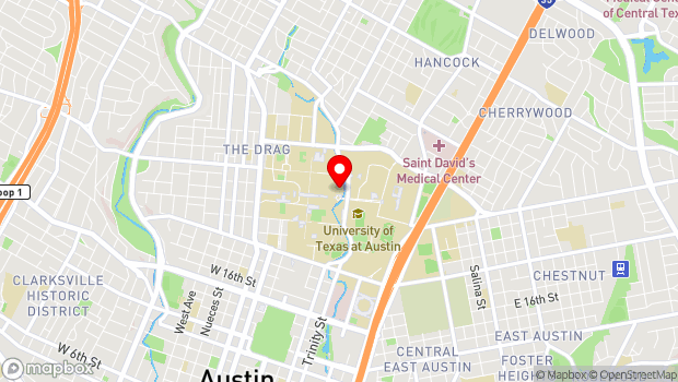 Google Map of 300 East 23rd Street, Austin, TX 78705