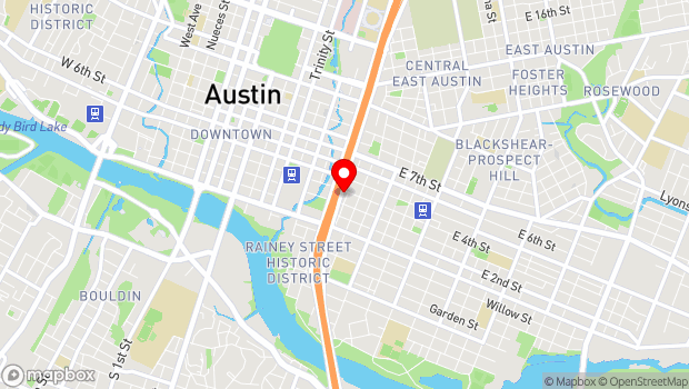 Google Map of 807 E 4th St, Austin, TX 78702