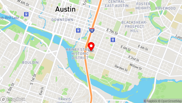 Google Map of 81 San Marcos St., Austin, TX 78702