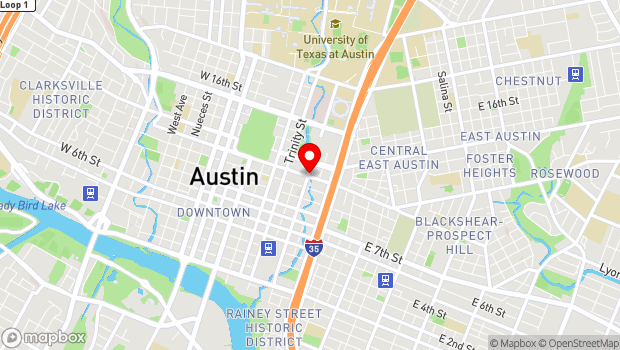 Google Map of 1101 Red River Street , Austin, TX 78701