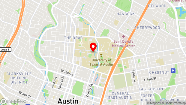 Google Map of UT Campus, Art Building, Austin, TX 78712