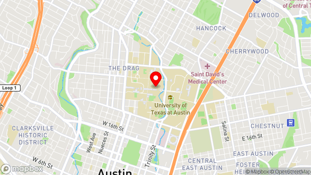 Google Map of 2305 Speedway, Austin, TX 78712