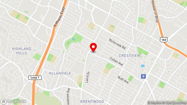 Google Map of 2200 Justin Ln, Austin, TX 78757