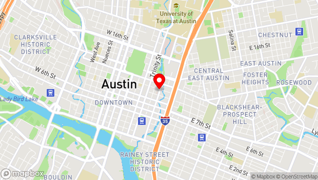 Google Map of 912 Red River Street, Austin, TX 78701