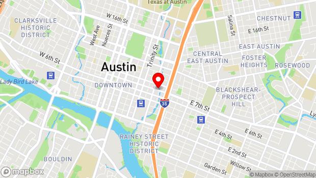 Google Map of 606 E 7th St, Austin, TX 78701