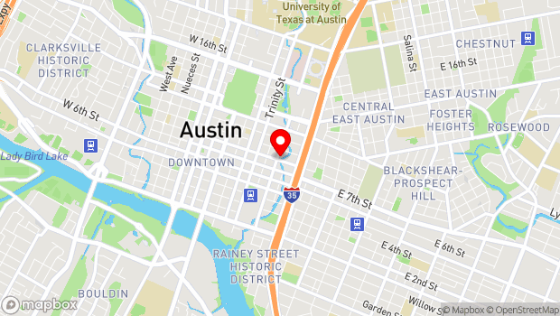 Google Map of 801 Red River Street, Austin, TX 78701