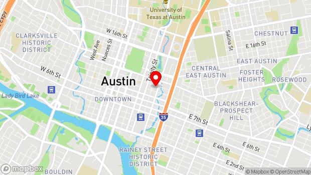 Google Map of 507 East 10th Street, Austin, TX 78701