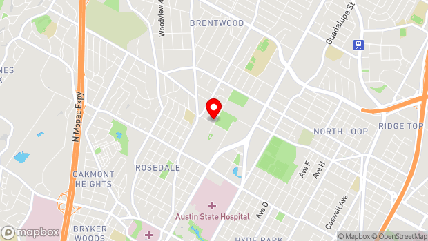 Google Map of 4902 Grover Ave, Austin, TX 78756