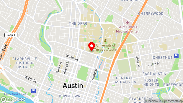 Google Map of 200 East Martin Luther King Junior Blvd , Austin, TX 78701