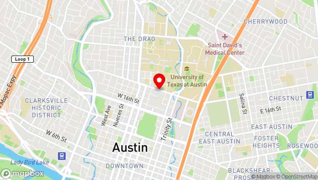 Google Map of MLK at Congress , Austin, TX 78701