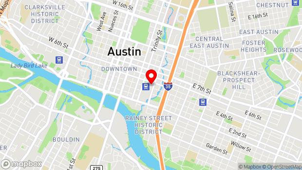 Google Map of 500 4th Street, Austin, TX 78701