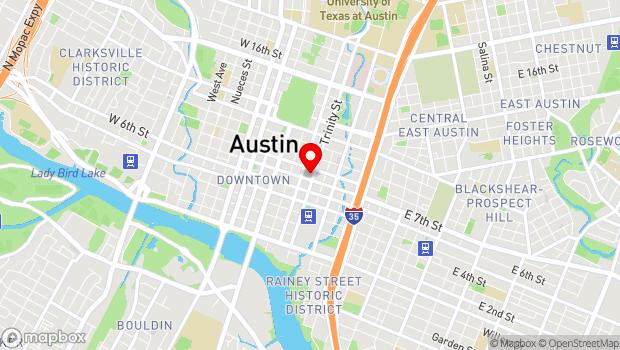 Google Map of 301 E 8th St, Austin, TX 78701