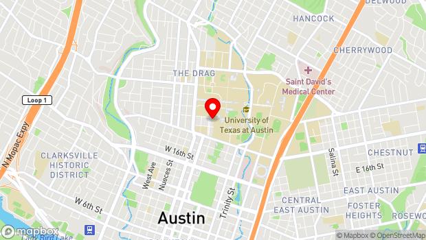 Google Map of 2007 University Ave, Austin, TX 78705