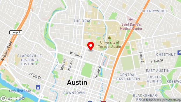 Google Map of 1800 North Congress Avenue, Austin, TX 78701