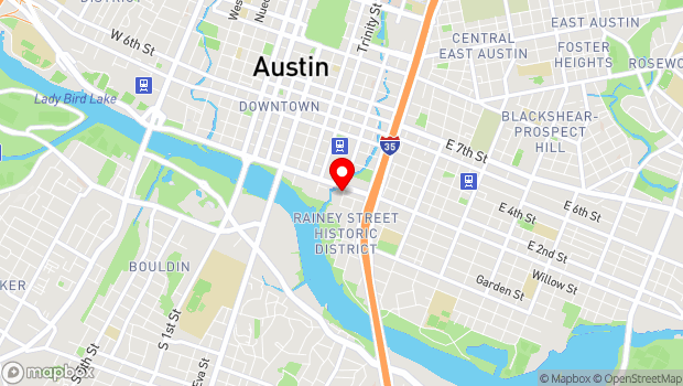 Google Map of 711 1/2 Red River Street, Austin, TX 78701