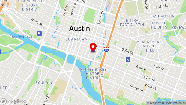 Google Map of 500 East Cesar Chavez Street, Austin, TX 78701