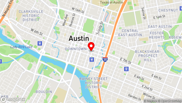 Google Map of 320 East 6th Street, Austin, TX 78701