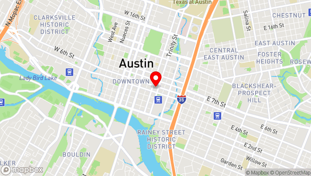 Google Map of 317 East 6th Street, Austin, TX 78701