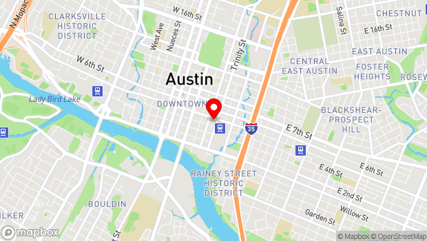 Google Map of 307 East 5th St, Austin, TX 78701