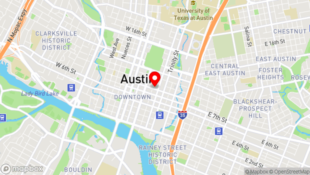 Google Map of 200 East Eighth Street, Austin, TX 78701