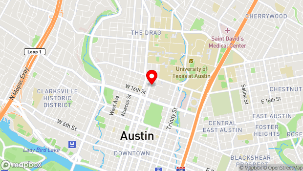 Google Map of 207 West 18th Street, Austin, TX 78701