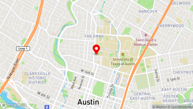 Google Map of 300 West 21st Street, Austin, TX 78712