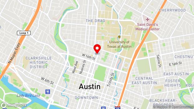 Google Map of 1710 Lavaca Street, Austin, TX 78701