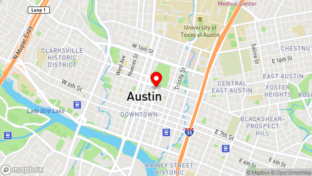 Google Map of 1100 Congress Avenue, Austin, TX 78701