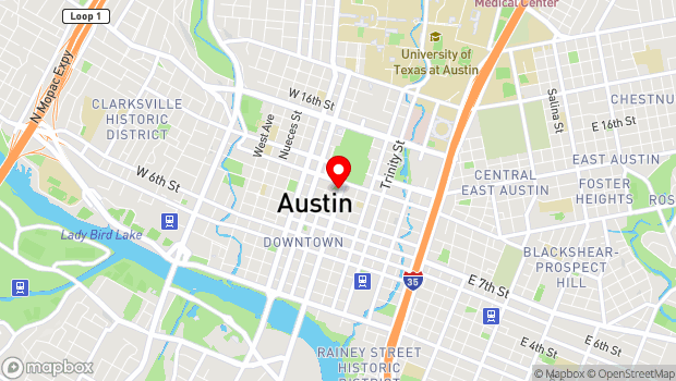 Google Map of 1006 Congress Ave, Austin, TX 78701