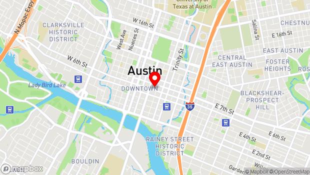 Google Map of 604 Brazos Street, Austin, TX 78701