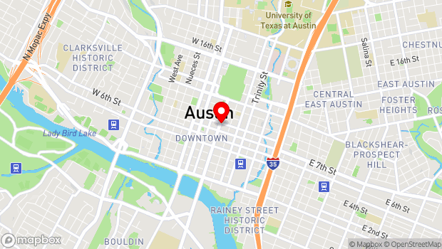 Google Map of 721 Congress Avenue, Austin, TX 78701
