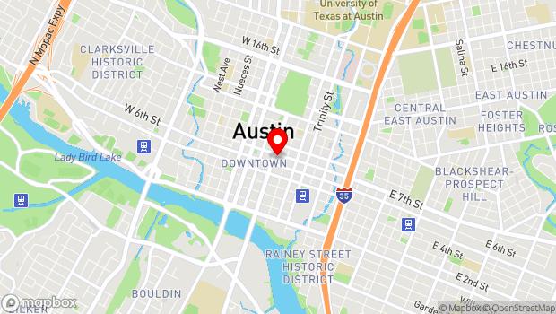 Google Map of 617 Congress Avenue, Austin, TX 78701