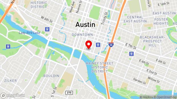 Google Map of 201 E 2nd Street, Austin, TX 78701