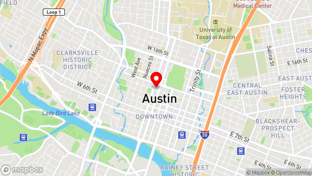 Google Map of Austin, TX 78701